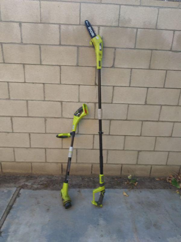Ryobi. Weedeater & chain saw pole