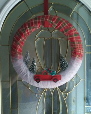 Handmade Little Red Truck Christmas Wreath for Sale in St. Louis, MO