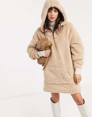 ASOS teddy sherpa dress sz medium 10 new with tags for Sale in Long Branch, NJ
