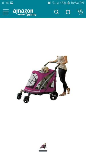 Pet Gear NO-Zip Stroller, Push Button Zipperless Dual Entry, for Single or Multiple Dogs/Cats, Pet Can Easily Walk in/Out, No Need to Lift Pet for Sale in Antelope, CA