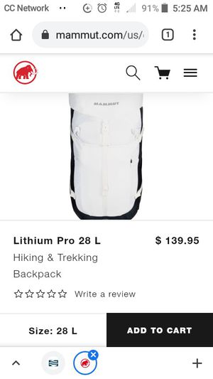 Mammut lithium pro hiking backpack for Sale in Everett, WA