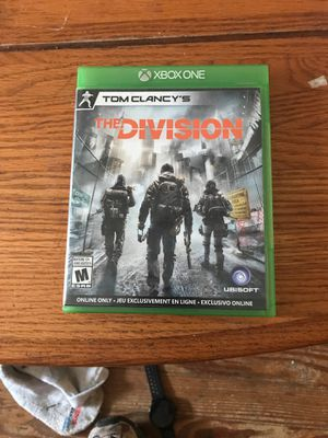 The DIVISION Xbox one game for Sale in Farmville, VA