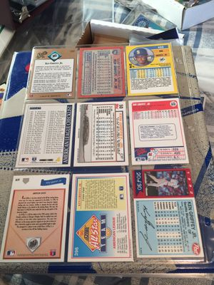 Ken Griffey jr baseball cards $6.50. for sheet of 9 cards. for Sale in ROCHESTER, NY