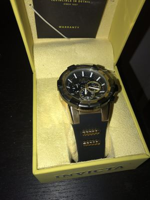 New Black & Gold Invicta Watch for Sale in Germantown, MD