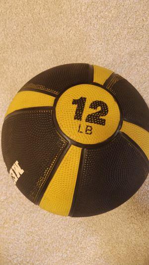 12lb Medicine Ball - Hardshell for Sale in Herndon, VA