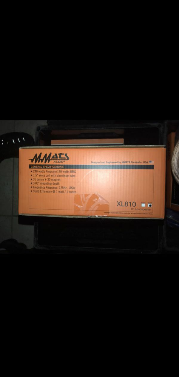 Mmats xl810 8 inch loudspeaker mid pro audio super cheap new