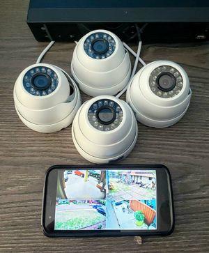4 1080p security cameras with instalation.. Hablo Espanol for Sale in Arlington, TX