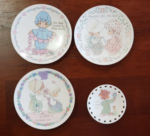 Precious Moments Lot of 4 Decorative Plates for Sale in Sugar Land, TX