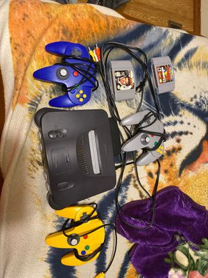 Nintendo 64, 3 Controllers, 2 games for Sale in Lexington, SC