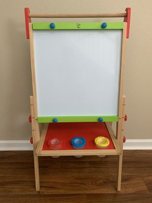 Hape Magnetic All in 1 Kids Drawing Painting Chalk Art Board Wooden Artist Easel for Sale in Tampa, FL
