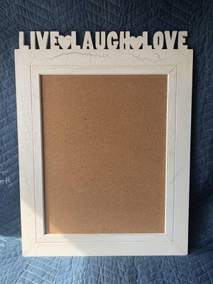 Live Laugh Love Cork Board for Sale in Melbourne, FL