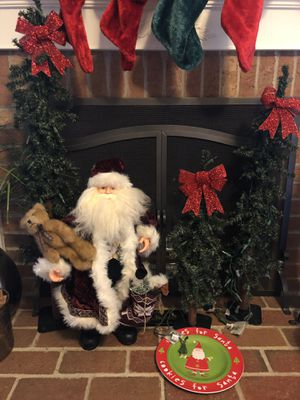Christmas Santa and three Christmas tree decorations for Sale in Fairfax Station, VA
