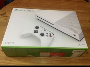 Xbox one s - 1tb with 7 new game unopen for Sale in Boston, MA