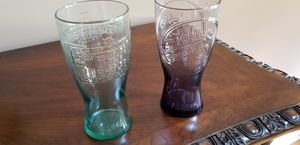 """1955 and 1948 McDonald's Milkshake Glasses, about 6.5"""" Tall. (Purple one is 1955). Excellent Condition, pick up in East Clayton. for Sale in Clayton, NC"""
