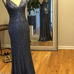 Nicole Miller Blue Sequin Gown for Sale in Mount Prospect, IL