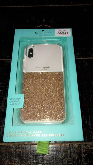 kate spade new york - Protective Case for Apple iPhone X and XS - Clear/Gold NEW🖤 for Sale in Los Alamitos, CA