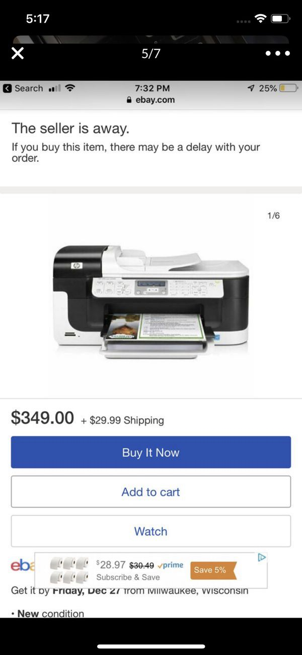 Hp wireless all in one printer