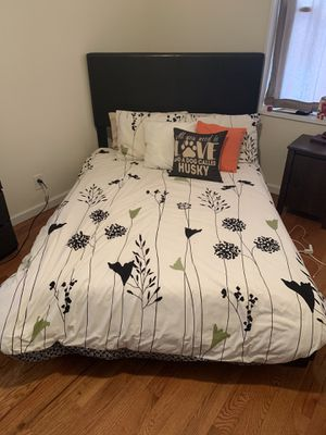 Bed Frame with Box Spring and Mattress (FULL Size) for Sale in Brooklyn, NY