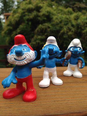 Three Smurfs Ceramic Figurines for Sale in Atlanta, GA
