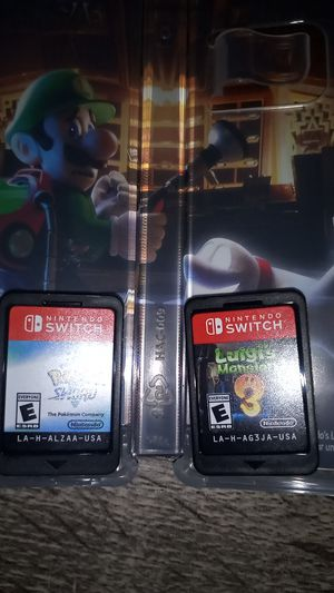 Nintendo switch Luigi's Mansion 3 and pokemon shield for Sale in Haines City, FL