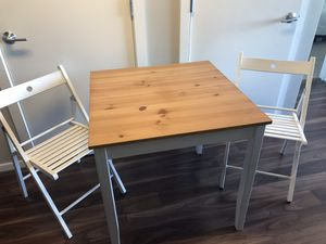 3 piece IKEA table and chairs for Sale in Wheaton, MD