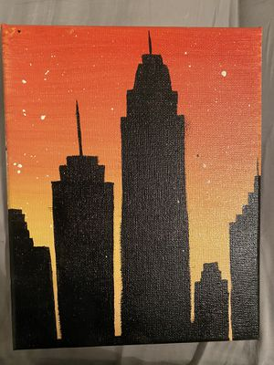 Handpainted Skyscraper Sunset for Sale in Greenville, SC