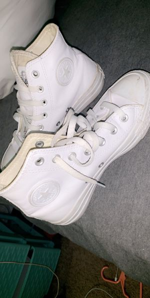 Women's leather high top converse for Sale in Cary, NC