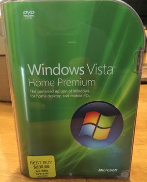 Genuine Microsoft Windows Vista 32-bit DVD - like new for Sale in East Berlin, CT