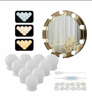 Vanity Mirror Lights Kit with 10 Dimmable LED Bulbs (Not Include Mirror) for Sale in Paramount, CA
