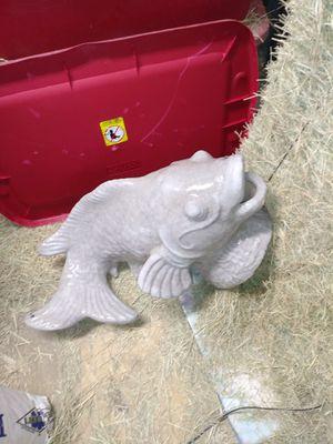 2 ceramic fountain fish for Sale in San Antonio, TX
