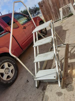 Motor home step ladder aluminum fold up portable for Sale in Huntington Beach, CA