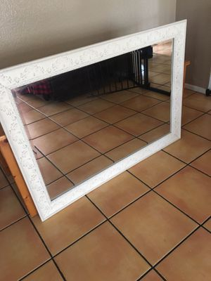Big white mirror and wall shelves for Sale in Corona, CA