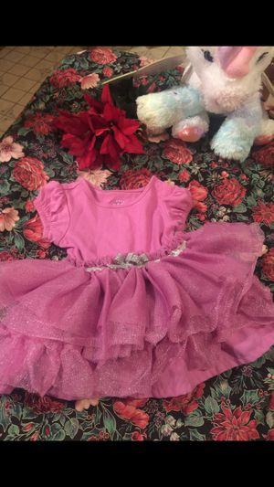 Little girls frilly fushia color tutu like dress 3 months for Sale in Northfield, OH