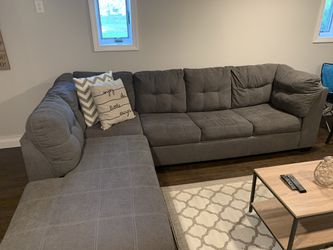 Sectional, 55 inch tv with tv stand included and table for Sale in Holbrook,  MA
