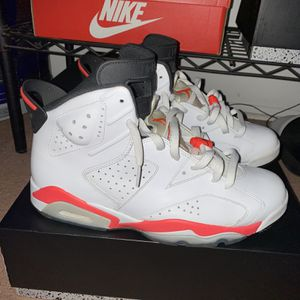 "Jordan 6 Retro ""Infrared White"" (2014) Size: 10.5 for Sale in Evesham Township, NJ"