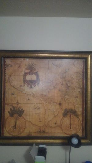Antique map of the New World for Sale in Humble, TX