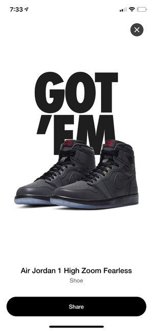AJ1 HIGH ZOOM FEARLESS for Sale in Stockton, CA