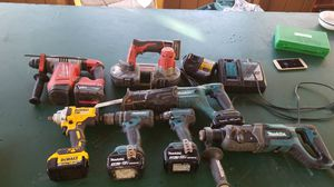 dewalt, Milwaukee, makita driils and saws for Sale in Springdale, MD