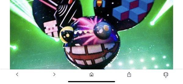 Deadmau5 (2 tix Saturday) will transfer through Ticketmaster