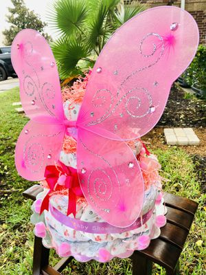 Baby shower diaper cake for Sale in Cypress, TX