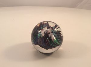 M. Haller signed art glass paperweight for Sale in Durham, NC