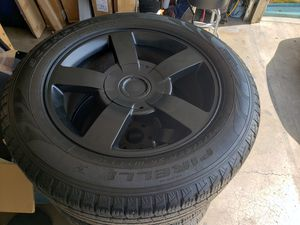 20in Chevy SS black rims Pirelli Scorpion tires for Sale in Anaheim, CA