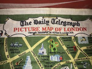 Vintage The Daily Telegraph Picture Map Of London for Sale in Franklinville, NC