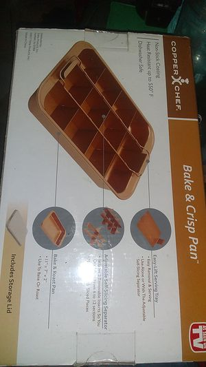 Copper chef bake and crisp pan four pt for Sale in Fort Worth, TX