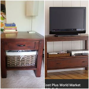 World Market tv console and end table for Sale in Issaquah, WA