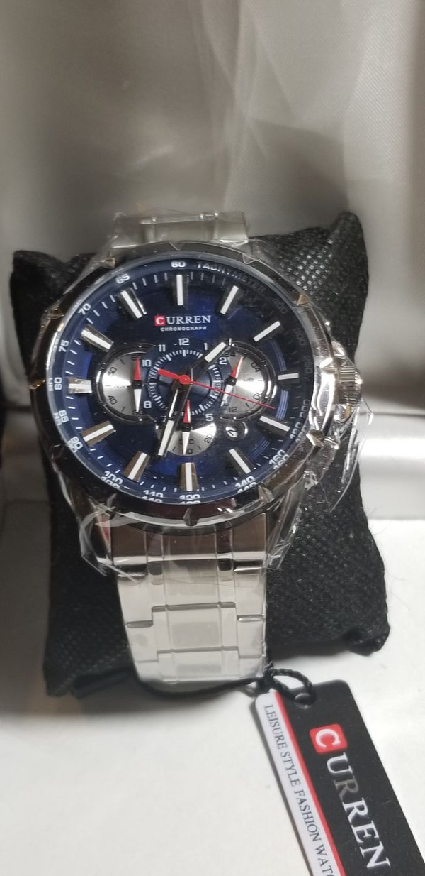 NICE MENS STAINLESS STEEL WATCH