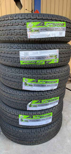 225/75/15 trailer tires for Sale in Houston, TX