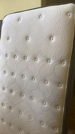 Twin mattress - cushion firm with box spring and bed frame for Sale in Murrieta, CA