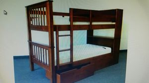 Bunk bed with bookcase (no drawers) for Sale in Shoreline, WA