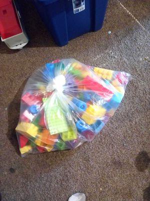 Bag of multicolored big Legos for Sale in Fresno, CA